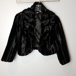 White House Black Market Fur Bolero Shrug xs